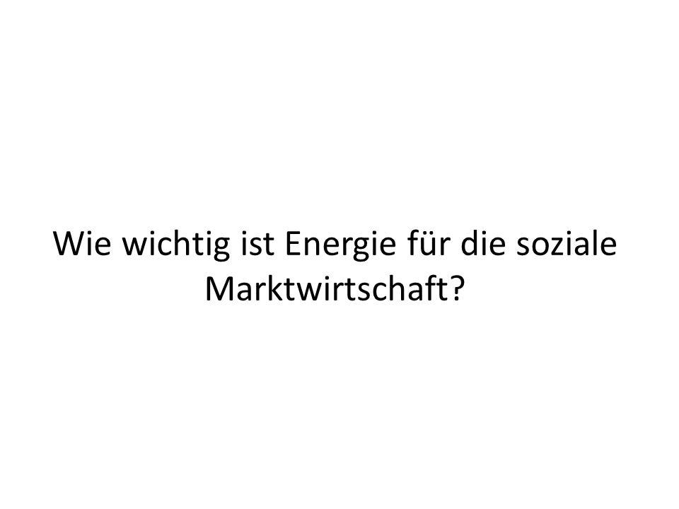 Wie wichtig ist Energie für die soziale Marktwirtschaft?