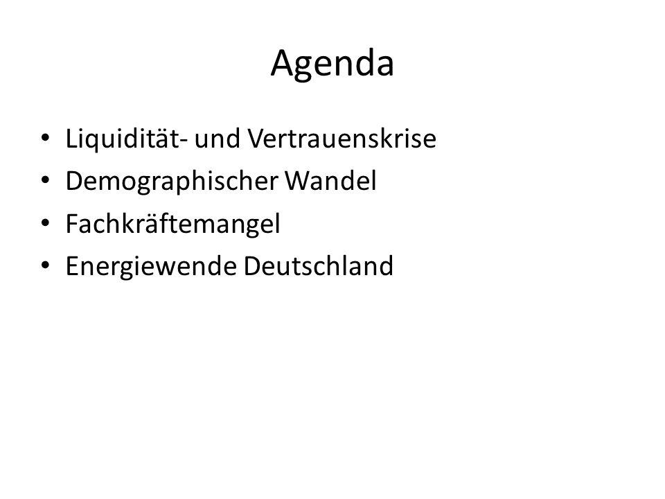 Agenda Liquidität- und Vertrauenskrise Demographischer Wandel Fachkräftemangel Energiewende Deutschland