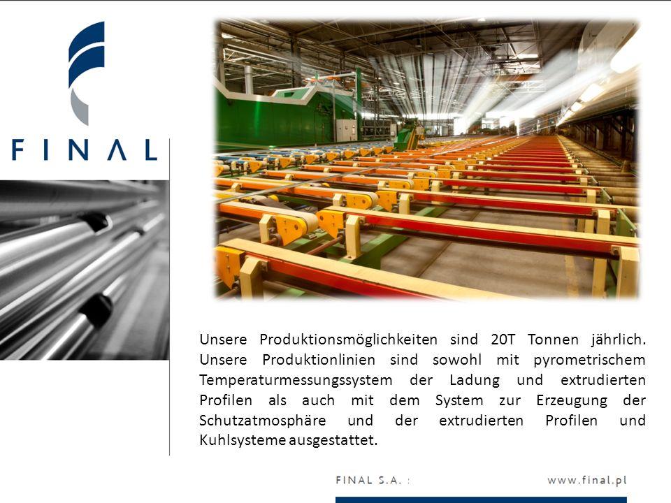 Unsere Produktionsmöglichkeiten sind 20T Tonnen jährlich. Unsere Produktionlinien sind sowohl mit pyrometrischem Temperaturmessungssystem der Ladung u