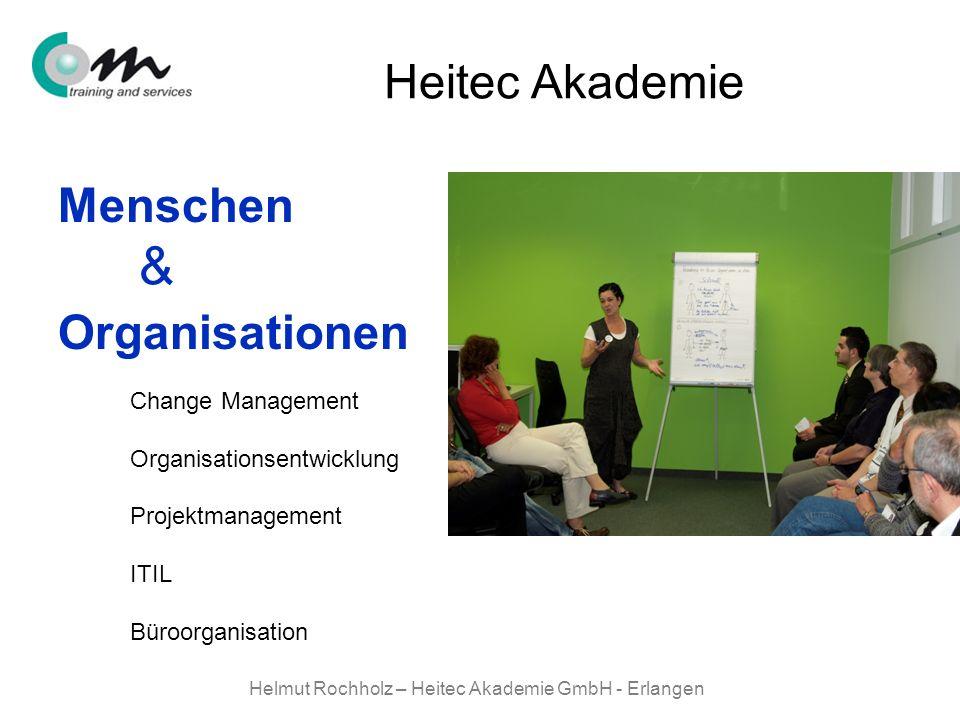 Helmut Rochholz – Heitec Akademie GmbH - Erlangen Menschen Organisationen & Heitec Akademie Change Management Organisationsentwicklung Projektmanageme