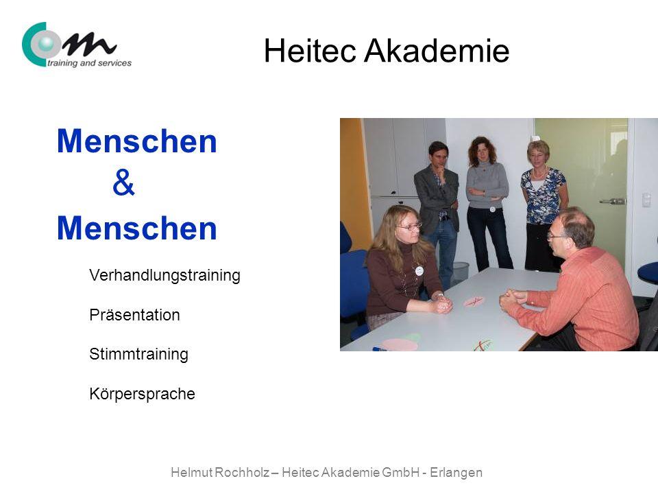 Helmut Rochholz – Heitec Akademie GmbH - Erlangen Menschen & Heitec Akademie Verhandlungstraining Präsentation Stimmtraining Körpersprache