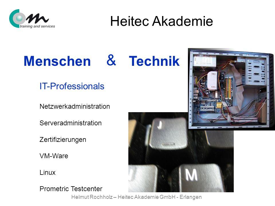 Helmut Rochholz – Heitec Akademie GmbH - Erlangen Menschen Technik & Heitec Akademie Netzwerkadministration Serveradministration Zertifizierungen VM-W