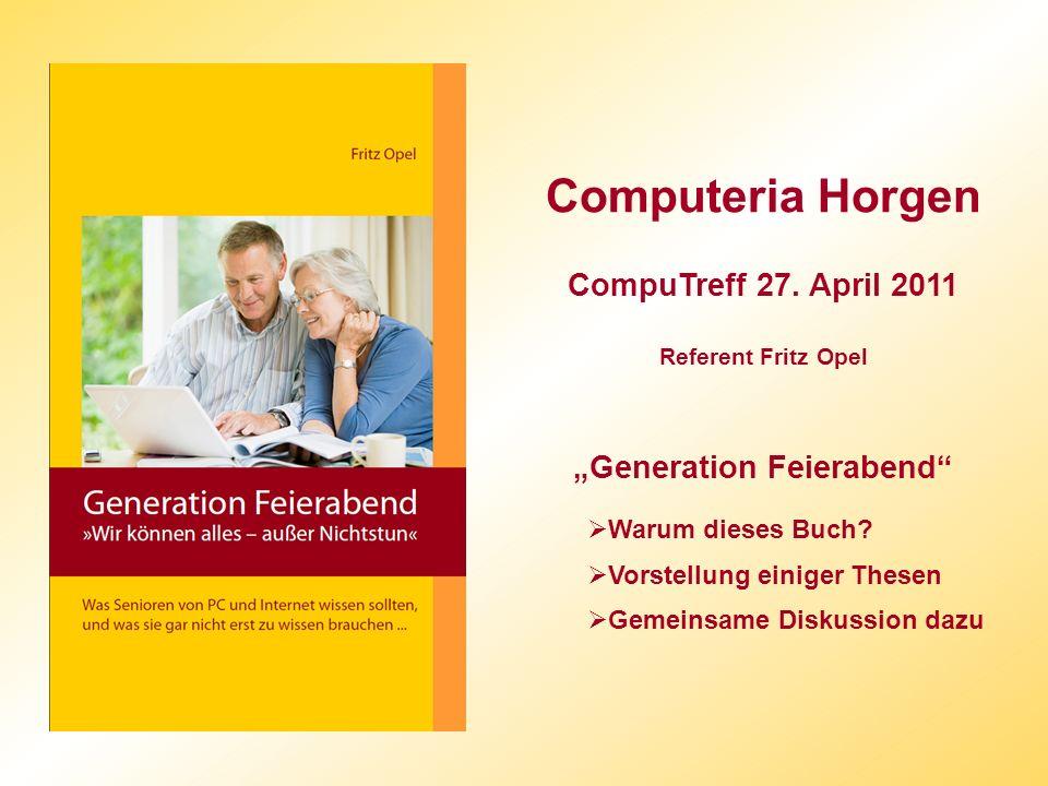 Computeria Horgen CompuTreff 27.