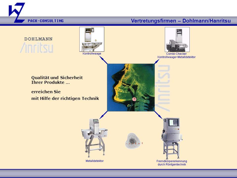 Vertretungsfirmen – Dohlmann/Hanritsu Qualität und Sicherheit Ihrer Produkte … erreichen Sie mit Hilfe der richtigen Technik