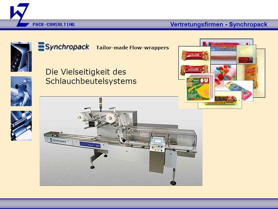 Vertretungsfirmen - Synchropack Tailor-made Flow-wrappers Die Vielseitigkeit des Schlauchbeutelsystems