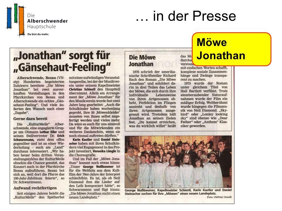 … in der Presse Möwe Jonathan