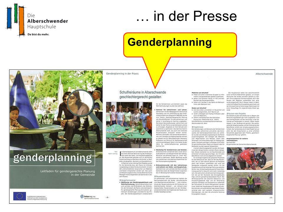 … in der Presse Genderplanning