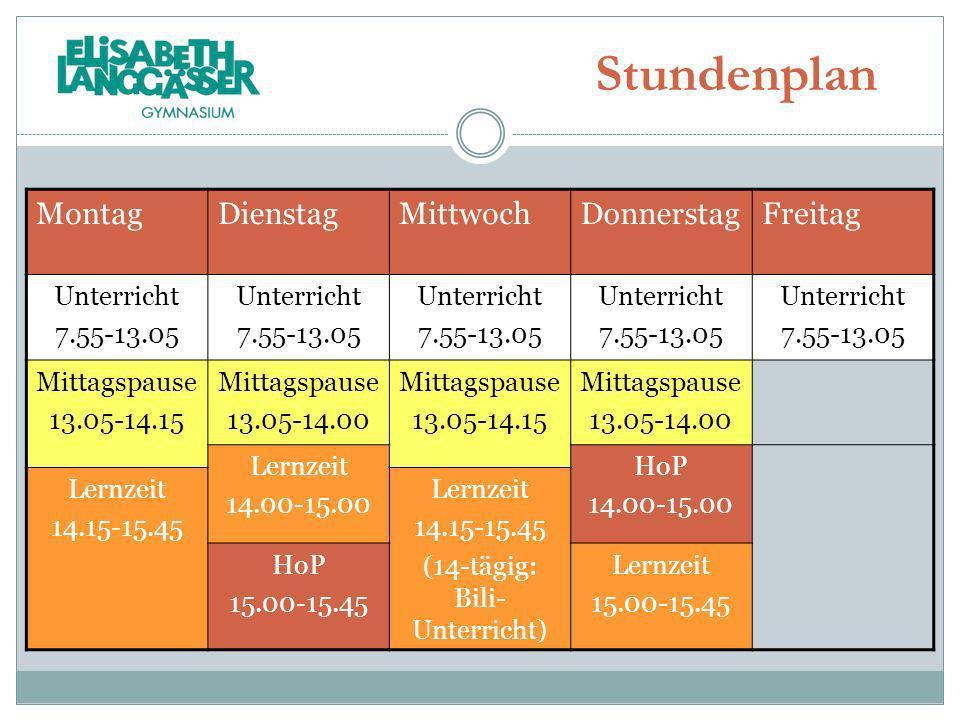 MontagDienstagMittwochDonnerstagFreitag Unterricht 7.55-13.05 Unterricht 7.55-13.05 Unterricht 7.55-13.05 Unterricht 7.55-13.05 Unterricht 7.55-13.05