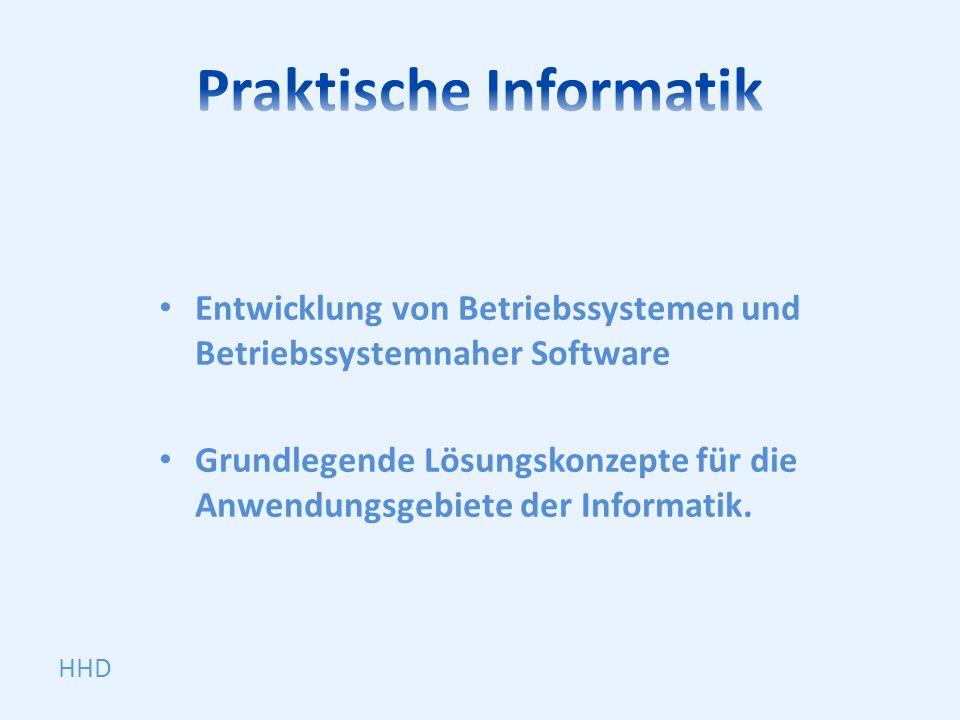 Entwicklung von Betriebssystemen und Betriebssystemnaher Software Grundlegende Lösungskonzepte für die Anwendungsgebiete der Informatik. HHD