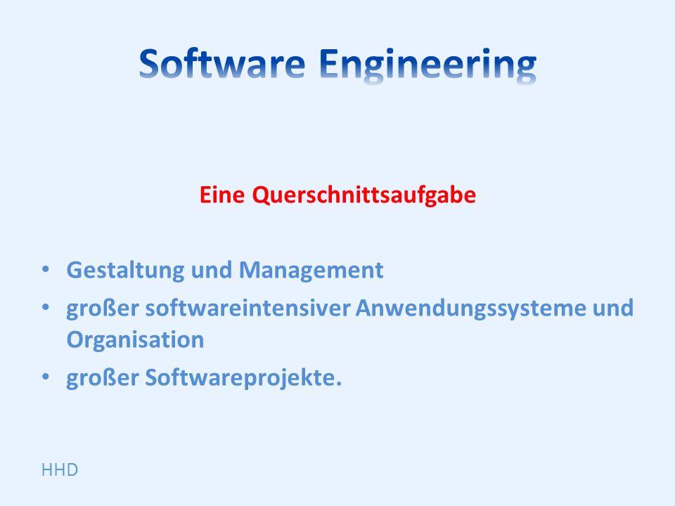 Eine Querschnittsaufgabe Gestaltung und Management großer softwareintensiver Anwendungssysteme und Organisation großer Softwareprojekte. HHD