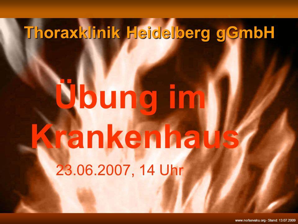 Feuerwehr Heidelberg in der Thoraxklinik.