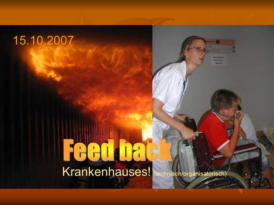 … vor der Übung: Szenario Objekt Nordbau.Brand im Dachstuhl.