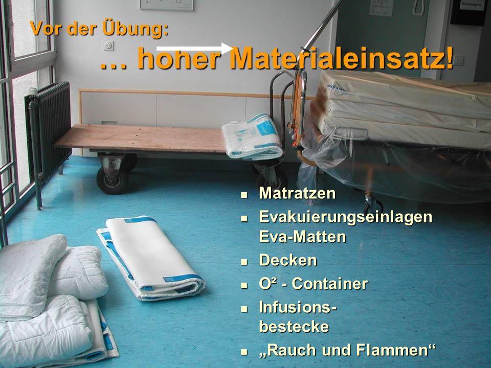 Aufgabe 8 Transport … verletzte Personen versorgen, externe Verlegungen organisieren! Raus!