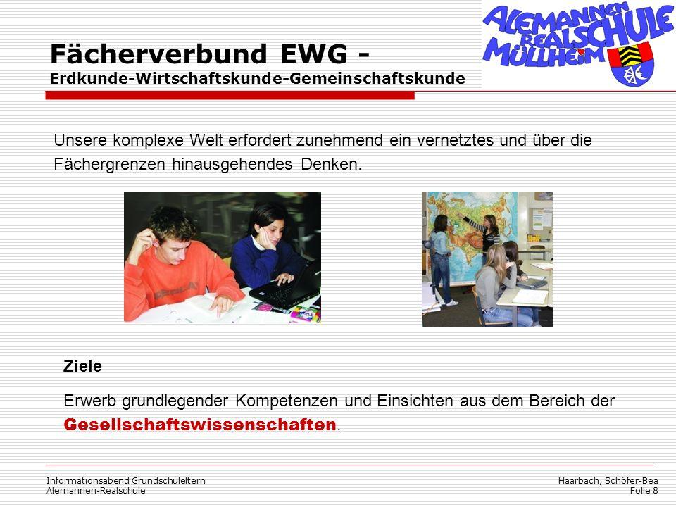 Haarbach, Schöfer-Bea Folie 8 Informationsabend Grundschuleltern Alemannen-Realschule Fächerverbund EWG - Erdkunde-Wirtschaftskunde-Gemeinschaftskunde