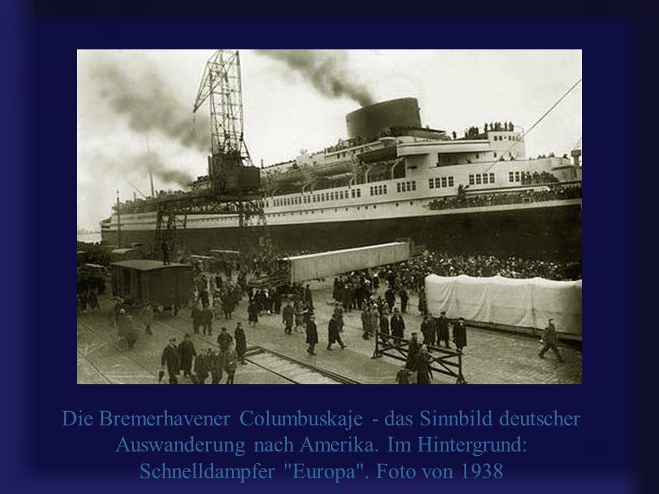 Hier nahmen Tausende Abschied von der Heimat für immer: die Abfertigungsanlage für Auswanderer in Bremerhaven. 1870