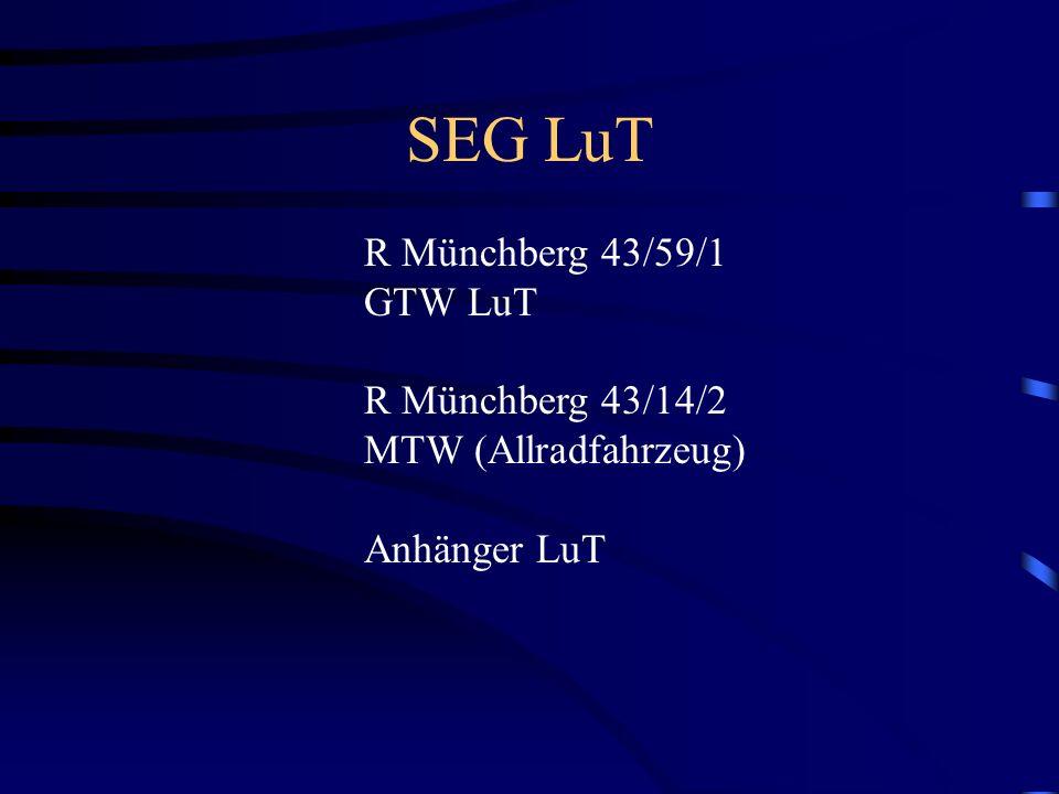 SEG LuT R Münchberg 43/59/1 GTW LuT R Münchberg 43/14/2 MTW (Allradfahrzeug) Anhänger LuT