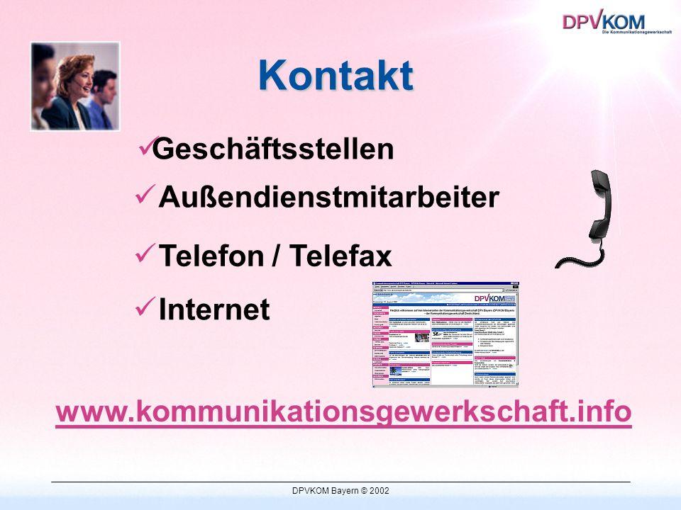 DPVKOM Bayern © 2002 Organisationsbereiche Logistik Telekommunikation Medien