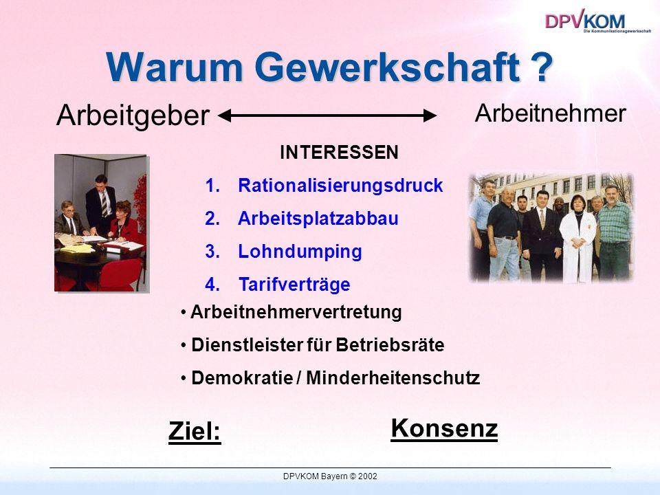 DPVKOM Bayern © 2002 Die Kommunikationsgewerkschaft DPV stellt sich vor
