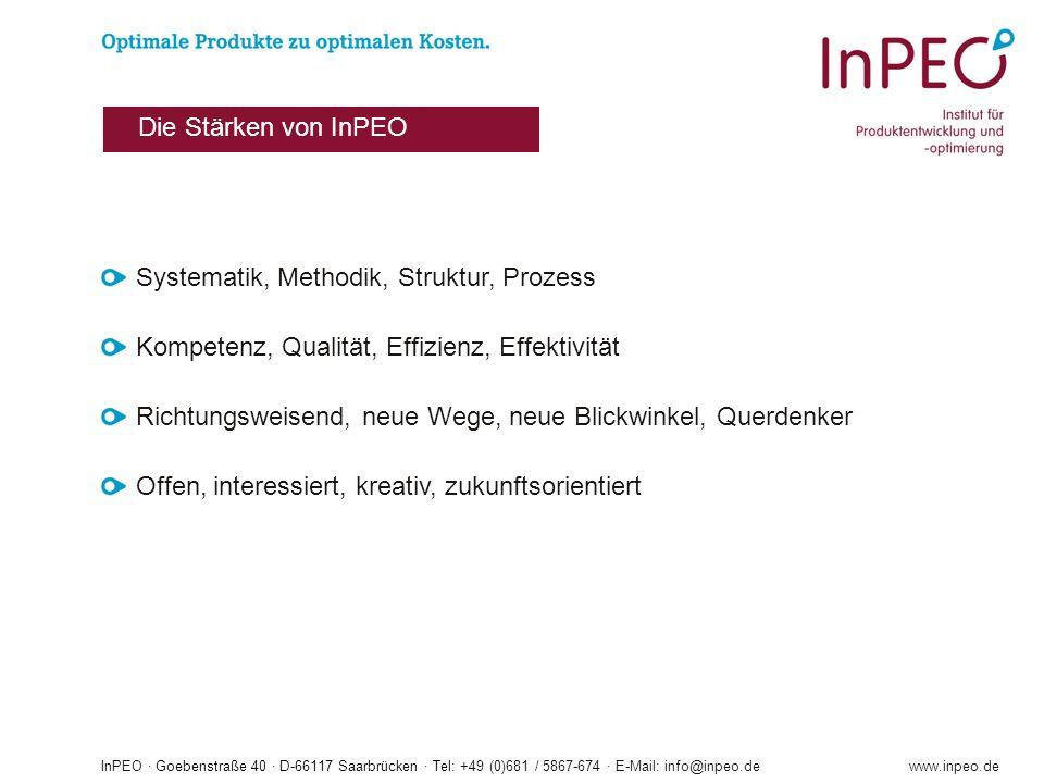InPEO · Goebenstraße 40 · D-66117 Saarbrücken · Tel: +49 (0)681 / 5867-674 · E-Mail: info@inpeo.dewww.inpeo.de Systematik, Methodik, Struktur, Prozess