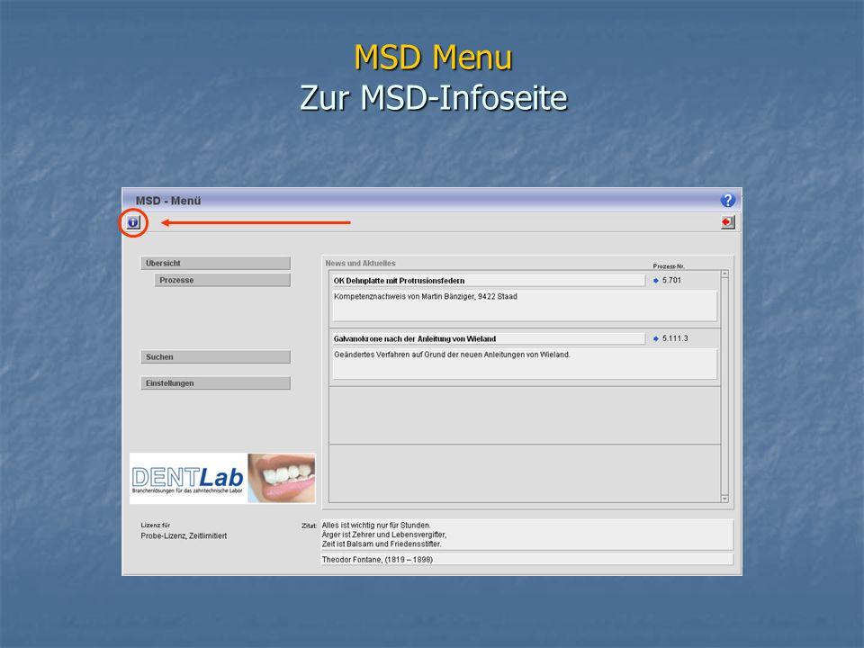MSD Menu Zur MSD-Infoseite