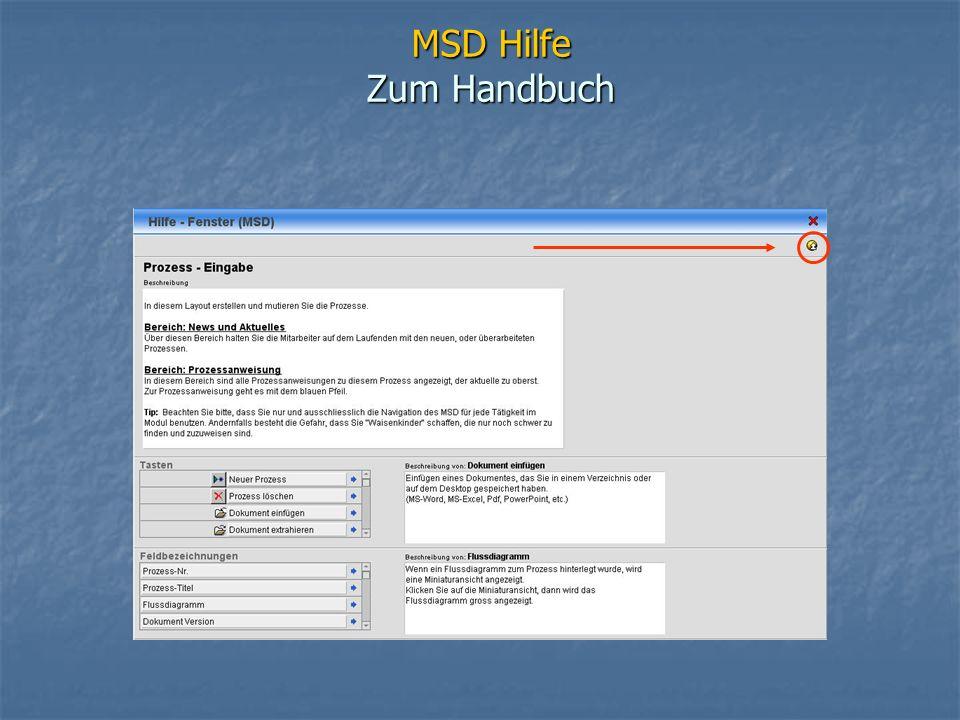 MSD Hilfe Zum Handbuch