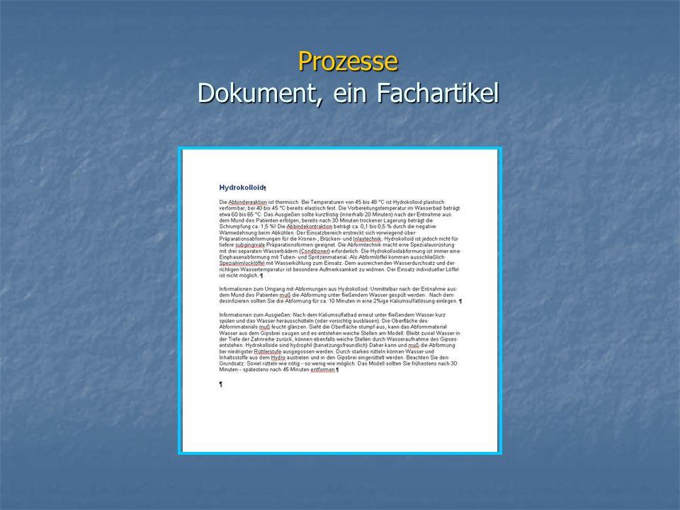 Prozesse Dokument, ein Fachartikel