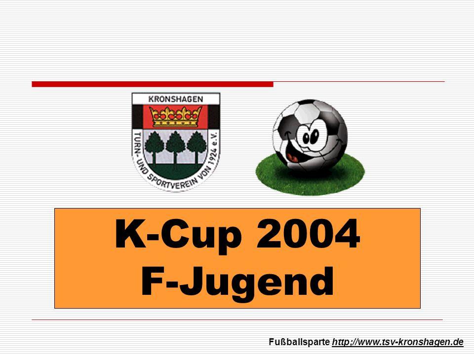 K-Cup 2004 F-Jugend Fußballsparte http;//www.tsv-kronshagen.de