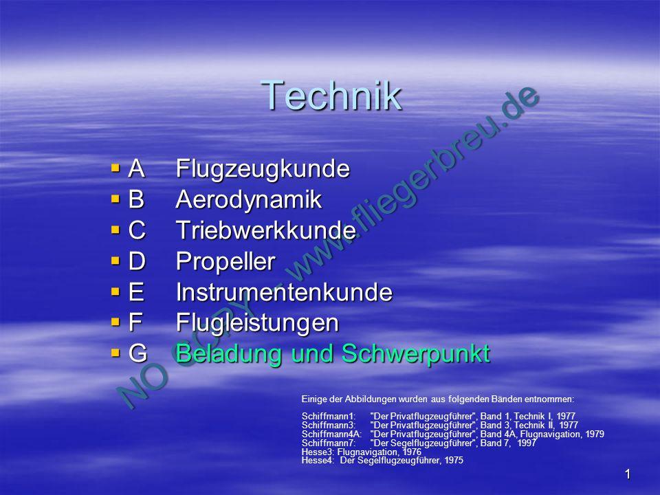 NO COPY – www.fliegerbreu.de 1 Technik AFlugzeugkunde AFlugzeugkunde BAerodynamik BAerodynamik CTriebwerkkunde CTriebwerkkunde DPropeller DPropeller E