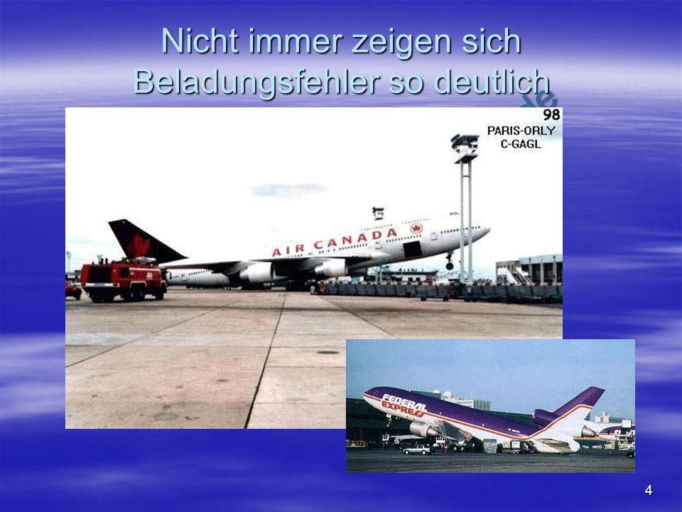 NO COPY – www.fliegerbreu.de 4 Nicht immer zeigen sich Beladungsfehler so deutlich