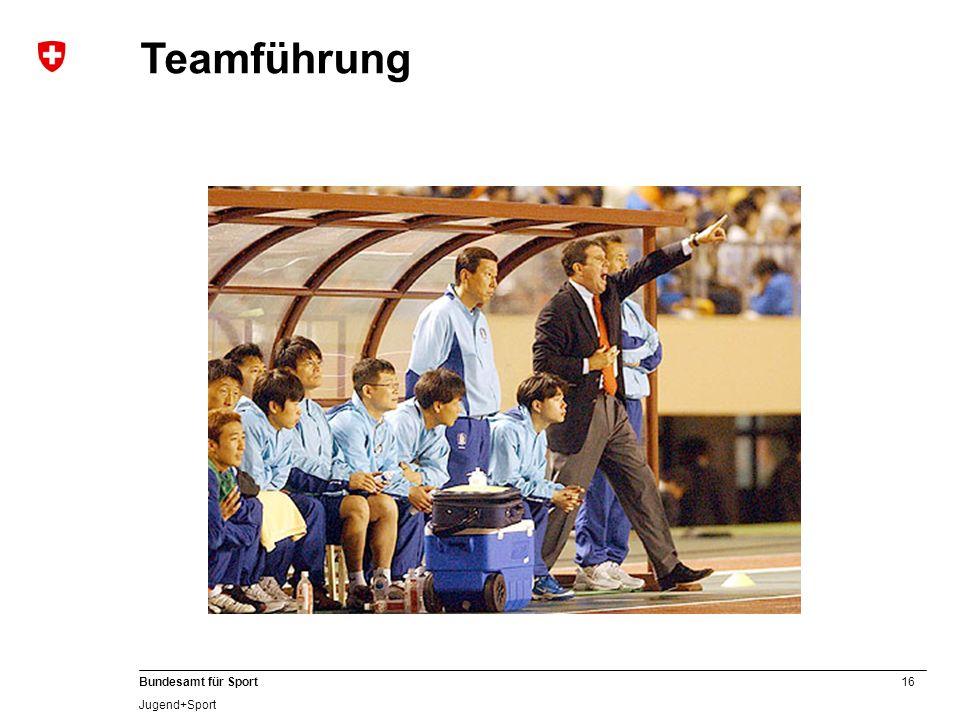 16 Bundesamt für Sport Jugend+Sport Teamführung