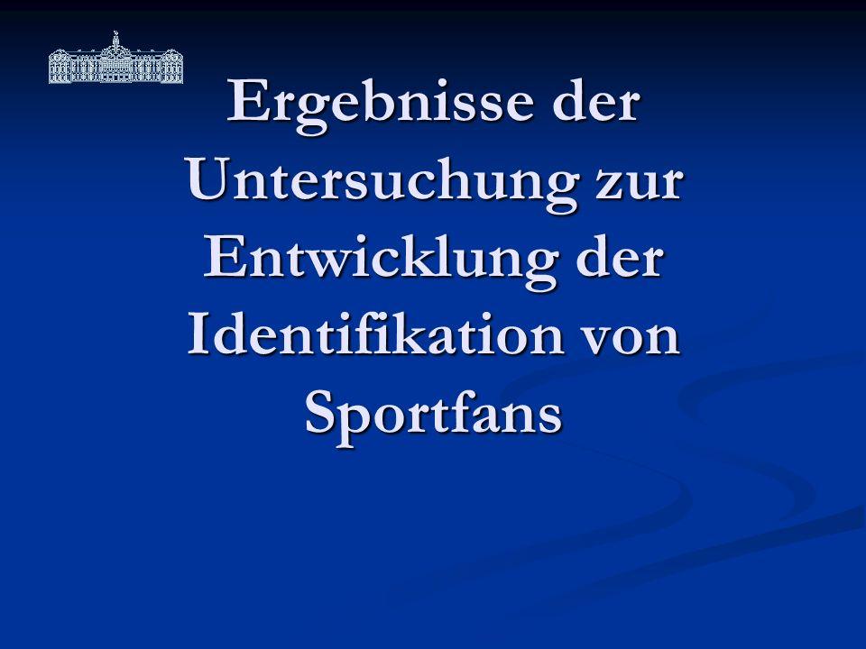 Ergebnisse der Untersuchung zur Entwicklung der Identifikation von Sportfans