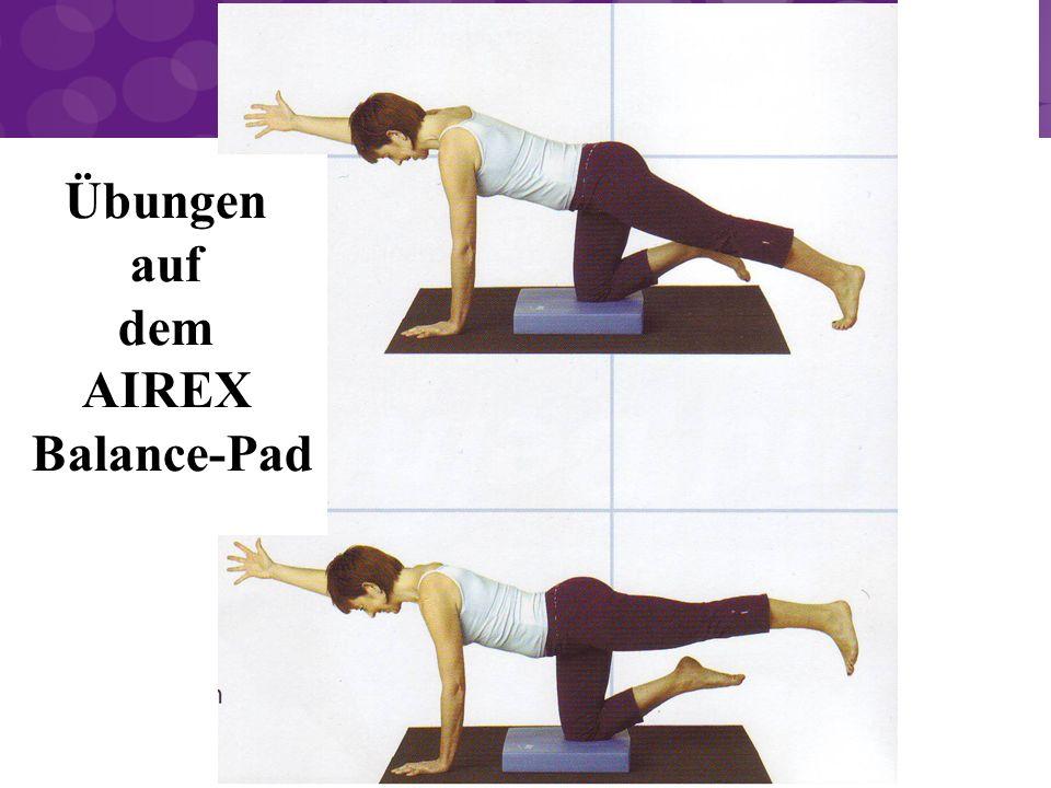 Übungen auf dem AIREX Balance-Pad