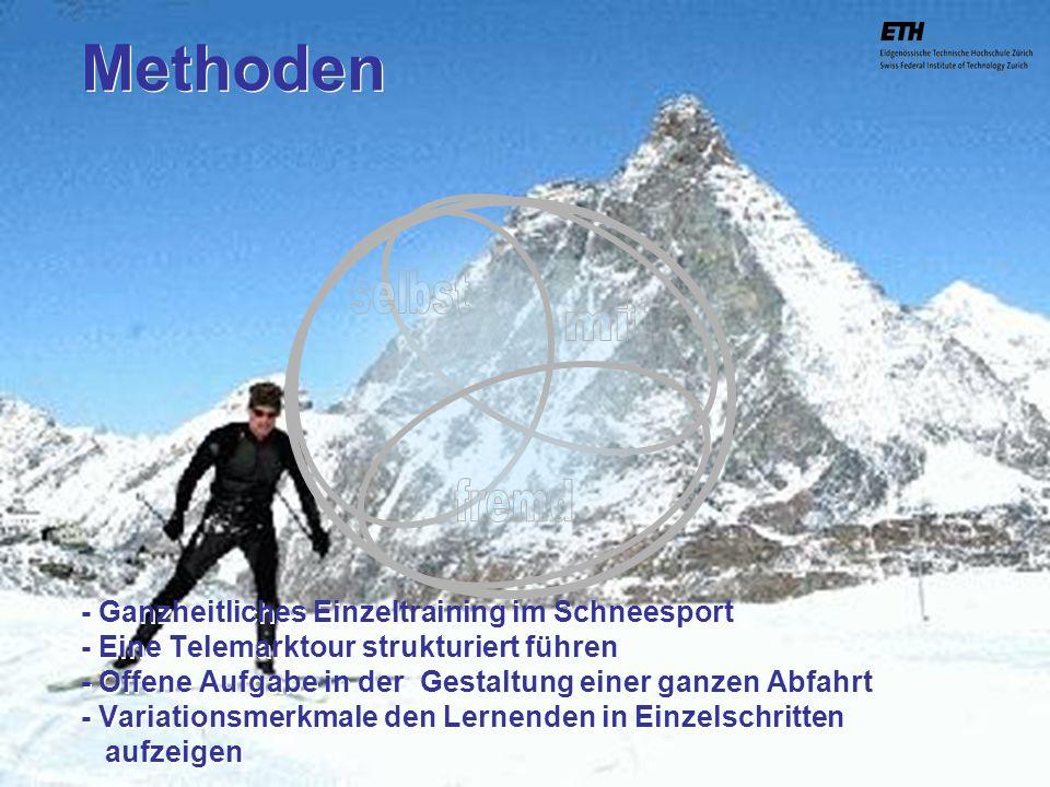 040925 ETH Zürich IBSW Lernstufen und Sicherheit - Pius Disler Methoden - Ganzheitliches Einzeltraining im Schneesport - Eine Telemarktour strukturier