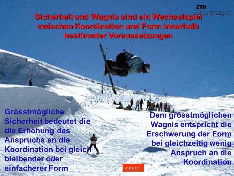 040925 ETH Zürich IBSW Lernstufen und Sicherheit - Pius Disler Sicherheit und Wagnis sind ein Wechselspiel zwischen Koordination und Form innerhalb be