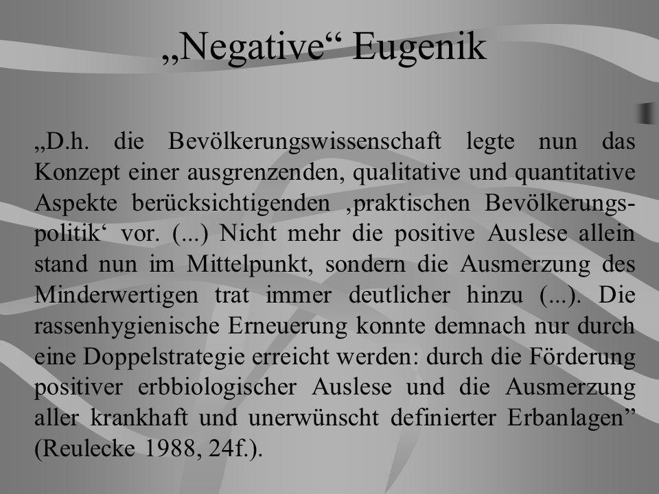 Negative Eugenik D.h.