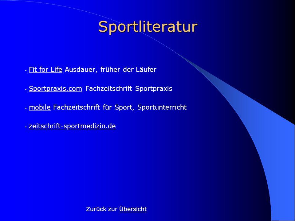 Sportliteratur Fit for Life Ausdauer, früher der LäuferFit for Life Sportpraxis.com Fachzeitschrift SportpraxisSportpraxis.com mobile Fachzeitschrift