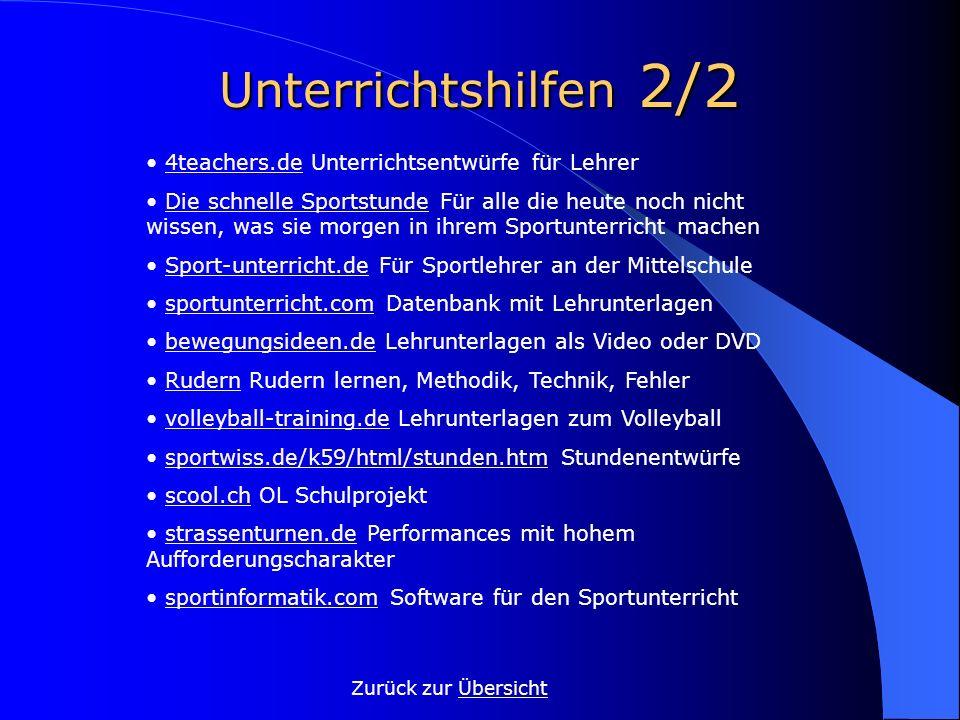 Unterrichtshilfen 2/2 Zurück zur ÜbersichtÜbersicht 4teachers.de Unterrichtsentwürfe für Lehrer4teachers.de Die schnelle Sportstunde Für alle die heut