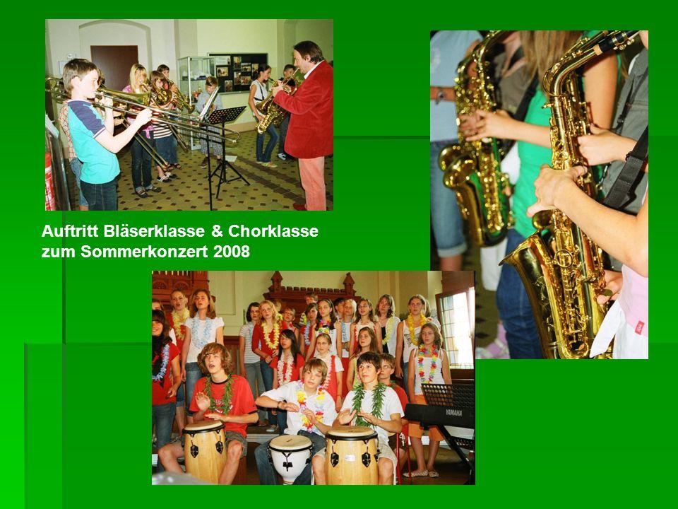 Auftritt Bläserklasse & Chorklasse zum Sommerkonzert 2008