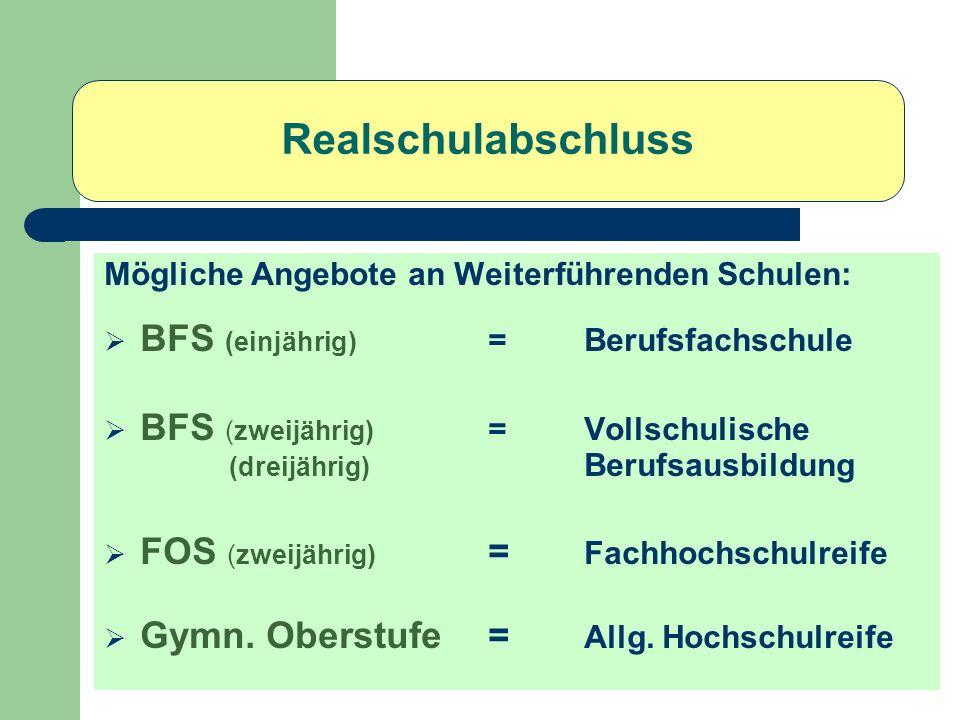 Einjährige Berufsfachschule Friedrich-List-Schule Wirtschaft u. Verwaltung (Höhere Handelsschule)