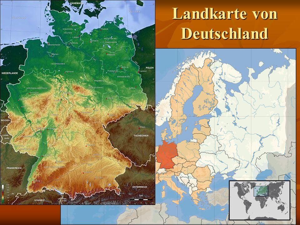 Landkarte von Deutschland