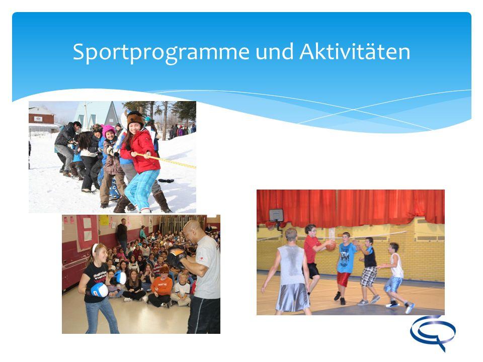 Sportprogramme und Aktivitäten