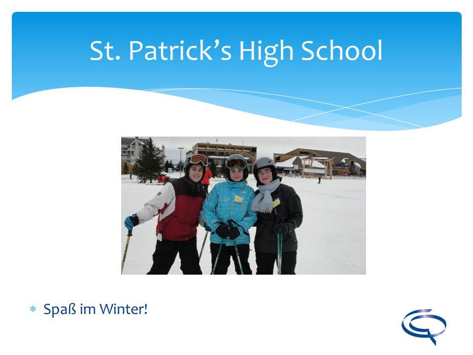 St. Patricks High School Spaß im Winter!