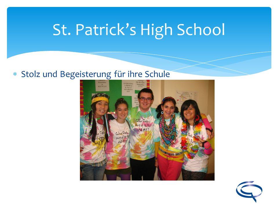 St. Patricks High School Stolz und Begeisterung für ihre Schule