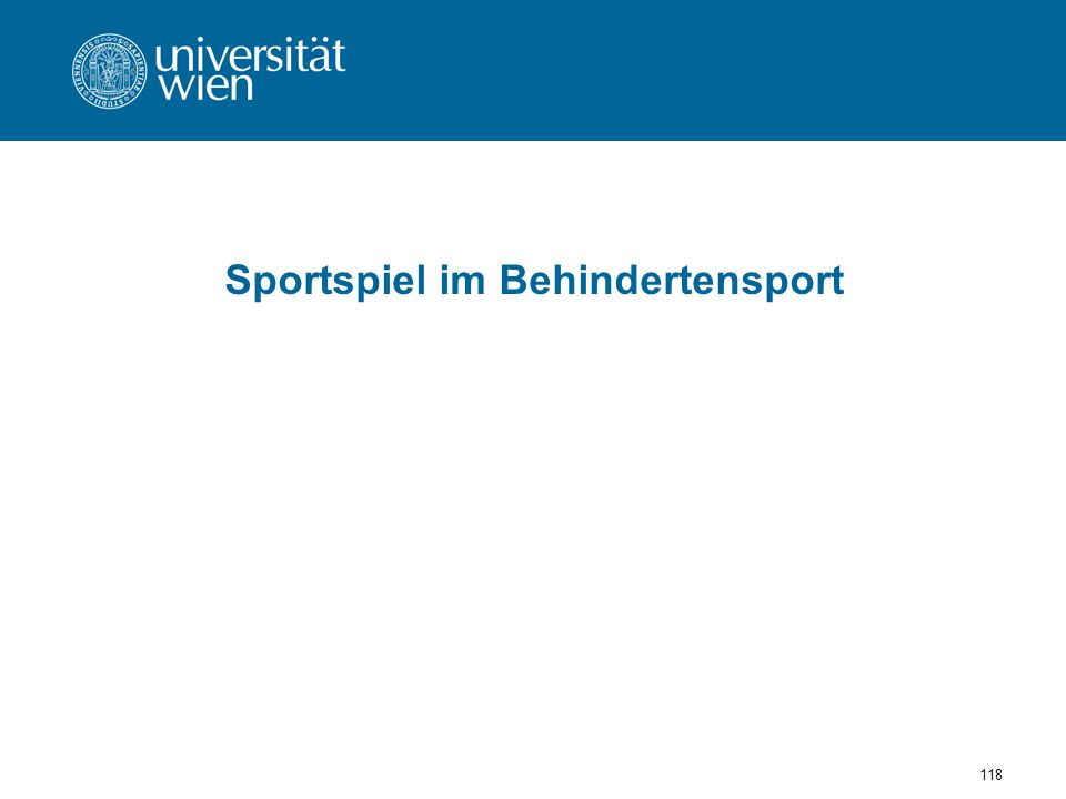 118 Sportspiel im Behindertensport