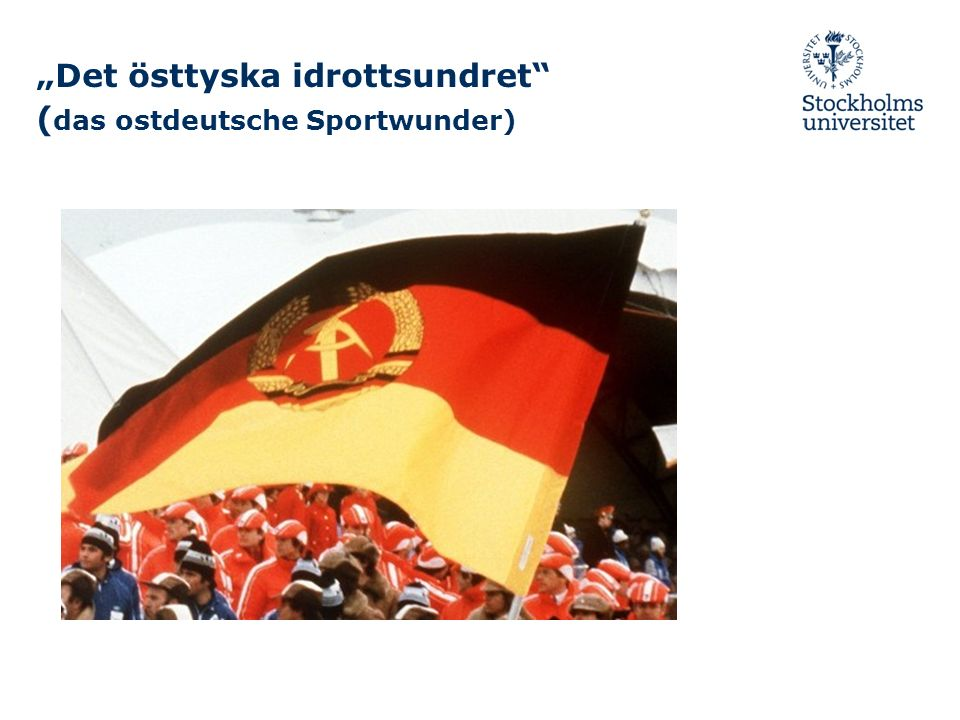 Det östtyska idrottsundret ( das ostdeutsche Sportwunder)