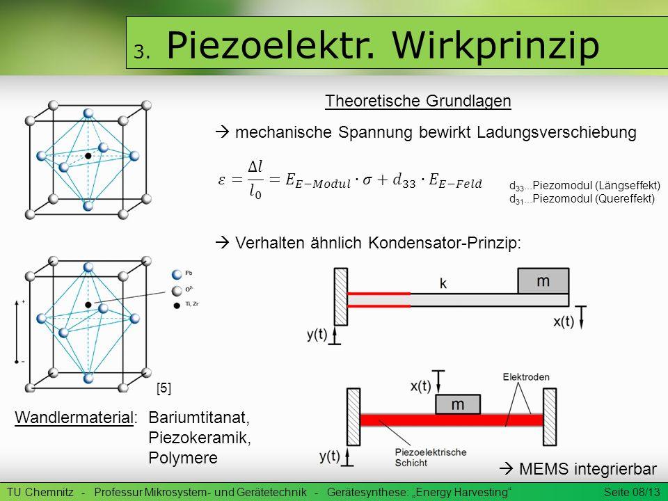 TU Chemnitz - Professur Mikrosystem- und Gerätetechnik - Gerätesynthese: Energy Harvesting Seite 09/13 3.