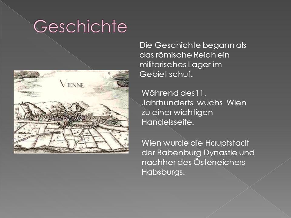 1-Innere Stadt- Herz der Stadt 2-Leopoldstadt- Wiener Prater 3-Landstraβe- HundertwasserHaus und Viele Kirche 4-Wieden- Karlsplatz und Karlskirche 6-M