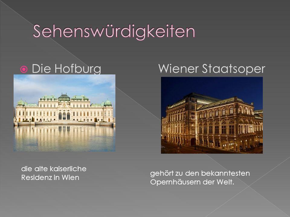 Die Hofburg Wiener Staatsoper die alte kaiserliche Residenz in Wien gehört zu den bekanntesten Opernhäusern der Welt.