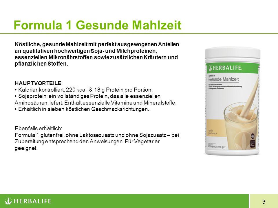 3 Köstliche, gesunde Mahlzeit mit perfekt ausgewogenen Anteilen an qualitativen hochwertigen Soja- und Milchproteinen, essenziellen Mikronährstoffen s