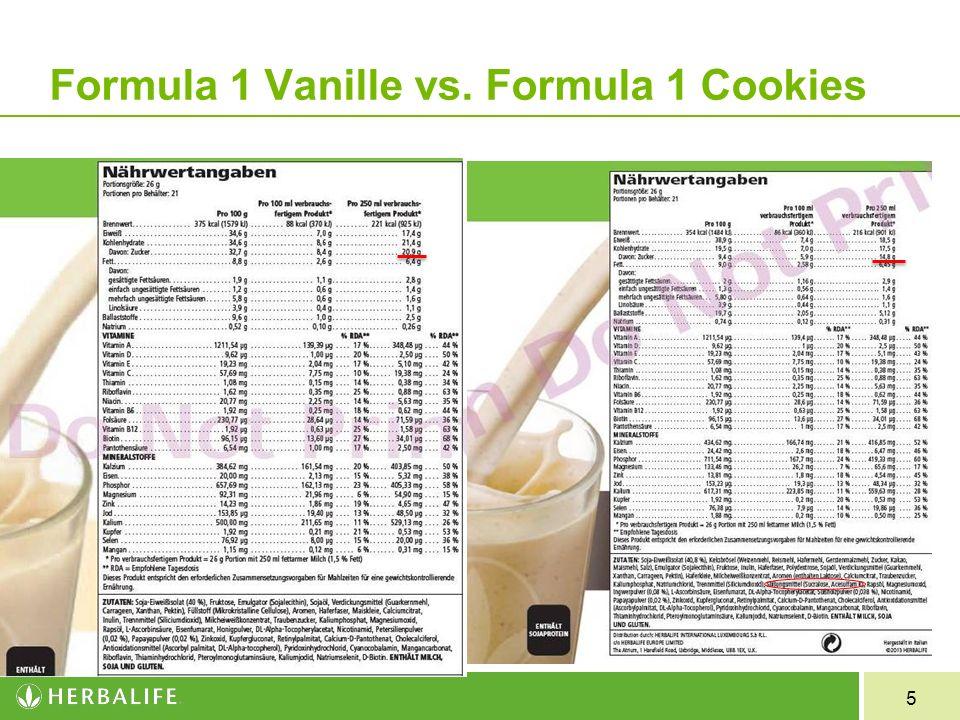5 Formula 1 Vanille vs. Formula 1 Cookies